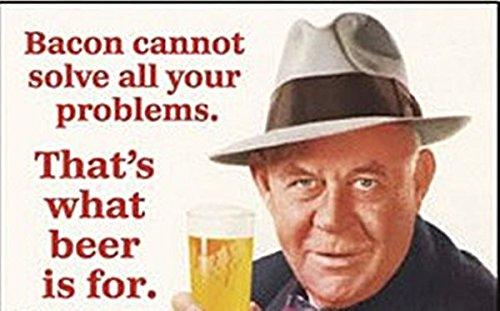 Speck nicht Lösen von Problemen führen. That'Bier ist was für Kühlschrankmagnet, Motiv: For the first time. englischsprachig
