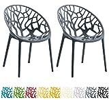 CLP 2er-Set Design Gartenstuhl HOPE aus Kunststoff
