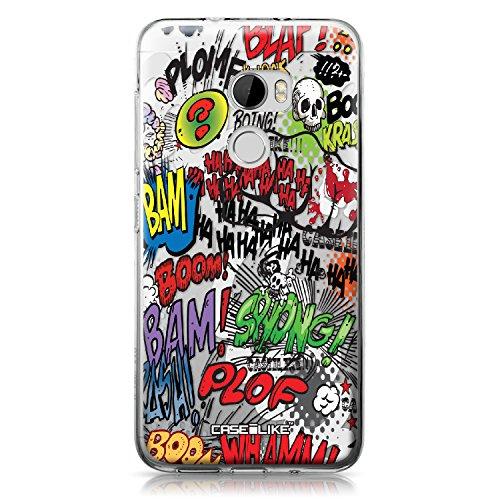 CASEiLIKE® HTC X10 Hülle, HTC X10 TPU Schutzhülle Tasche Case Cover, Comic Beschriftung 2914, Kratzfest Weich Flexibel Silikon für HTC One X10