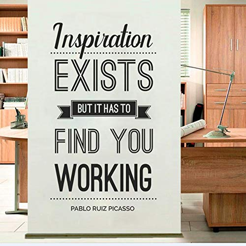 WWYJN Inspiration Exist Wall Sticker Office Wall Decal Removable Vinyl Wall Sticker Quote Picasso Home Decor Inspiration Words  42x67cm (Crocs Koffer)
