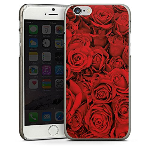 Apple iPhone 4 Housse Étui Silicone Coque Protection Rose Roses Roses CasDur anthracite clair
