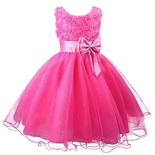 ädchen Kleid Kinder Kleider Prinzessin Festkleid Hochzeit Brautkleid Geburtstag Abendkleid Kommunionskleid von (Mädchen Prinzessin Kleid)