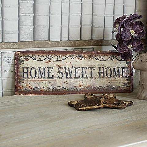'Plaque murale en métal Home Sweet Home