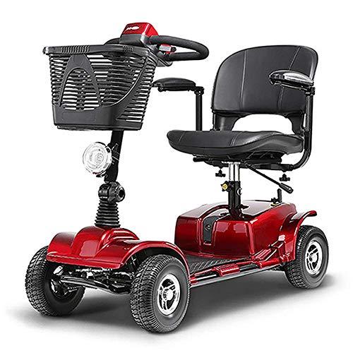 Faltbarer Elektrischer Roller 4 Räder, Leicht Ältere Erwachsene Elektro-Rollstuhl Mini Power Scooter 250W Voll Kupfer Motor/Gefahrene 25-30Km -