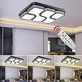 Hengda® 64W LED Deckenleuchte Dimmbar(2700-6500K) 320-3240LM Deckenbeleuchtung Wandleuchten für Korridor Esszimmer Kinderzimmer Küchen