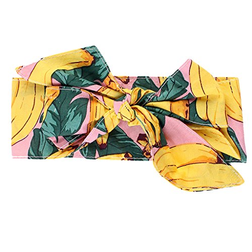 Gazechimp Baby Mädchen Stirnband Kopf Haarband Kleinkind Headwrap Knot Obst/Blumen Thema - Banane, wie beschrieben