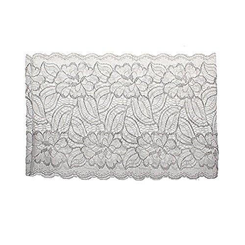 Shidan FM8 Damen Elastisch Rutschfest Schenkelbänder Anti-Scheuern Oberschenkelbänder mit Silikon, Weiß #B, Größe S (48-52 cm / 18.9-20.5 zoll) - 19-zoll-strumpf