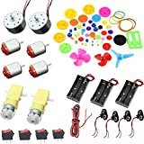 ym-teach DIY Projekt Kits: DC Motoren, Getriebe, Propeller, AA-Batterie Fall, Kabel, an/aus Schalter, 9-V-Batterie Clip