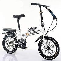 LETFF - Bicicleta Plegable para Adulto de 20 Pulgadas para Estudiantes, niños, Velocidad Variable
