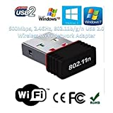 #7: Terabyte Mini 2.4Ghz Wireless Wifi Dongle 450Mbps 802.11n USB Connector