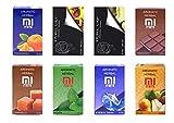 8Confezione x 50g gusto assortimento hibron Erba per narghilè Shisha Senza Nicotina Kit 1