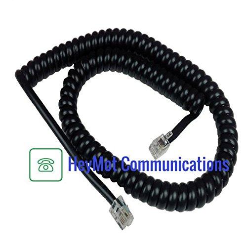 Alcatel Reflex 4020Premium Ersatz Telefonhörer Spiralkabel schwarz heymot Communications