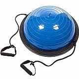 ScSPORTS Balance Ball mit Zugbändern, Vorder- und Rückseite nutzbar, 60 cm x 24cm, inkl. Pumpe