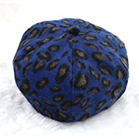Scrox Pintor Beret Boinas otoño e invierno Sombrero Invierno Visera Boina Gorro Tradicional de Modelo Retro de(Masculino y femenino común) (Azul)