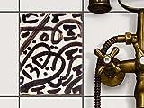 creatisto Fliesen-Aufkleber Folie Sticker selbstklebend | Fliesentattoo Dekosticker Küche renovieren Bad Küchen Ideen | 15x20 cm Muster Ornament Spanish Tile 2-1 Stück