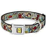 Buckle Down dc-wim003-s Iron Man Comic Sicherheitsgurt Hundehalsband, Kleine, NA