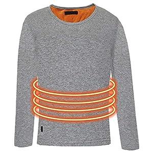 liuxi Beheizte Unterwäsche, USB Lade Elektrische Beheizte Körperwärmer Daunenweste, Wiederaufladbare Thermische Kapuzenweste mit 3 Heizstufen
