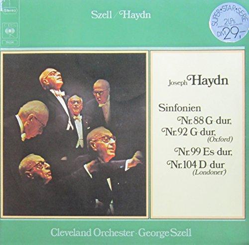 Haydn: Sinfonien Nr. 88 G-dur, Nr. 92 G-dur (Oxford), Nr. 99 Es-dur & Nr. 104 D-dur (Londoner) [Vinyl Doppel-LP] [Schallplatte] -