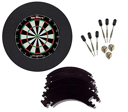 *McDart Scopus Bundle mit 6 Steeldarts und vierteiligen Catchring*