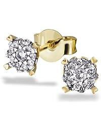 Goldmaid Damen-Ohrstecker 585 Gelbgold 20 Diamanten 0,22 ct. Ohrringe Brillanten Schmuck