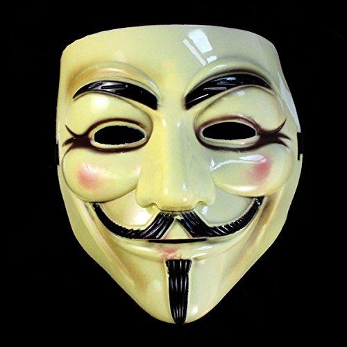 Mädchen Kostüm Vendetta - QHJ Halloween Kostüm Party Maske Halloween Maskerade Gesichtsmaske V für Vendetta Fawkes Fancy Dress Party Helloween Kostüm Party (A)