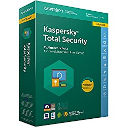 Kaspersky Total Security 2018 Upgrade | 3 Geräte | 1 Jahr | Windowsmacandroid | Download