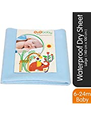 OYO BABY Waterproof Bed Protector Dry Sheet -Large