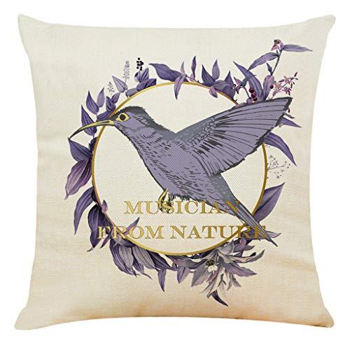 Precioul Kissenbezüge aus Baumwolle Leinen Zierkissenbezüge Blätter Muster für Wohnzimmer Schlafzimmer Natur, Taube - Baumwolle Wasserbett Blatt