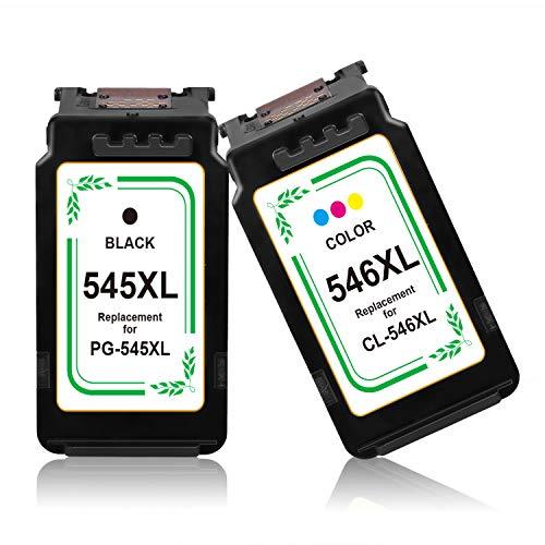 Azprint 545XL 546XL Druckerpatronen Kompatibel zu Canon PG-545XL CL-546XL Tintenpatronen | 1 Schwarz, 1 Tri-Farbe