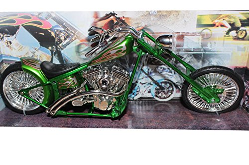 NewRay grüner Zerhacker, Plastikmodell-Motorrad im Maßstab 1:12, aus Druckguss