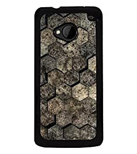Brown Pattern 2D Hard Polycarbonate Designer Back Case Cover for HTC One :: HTC One M7