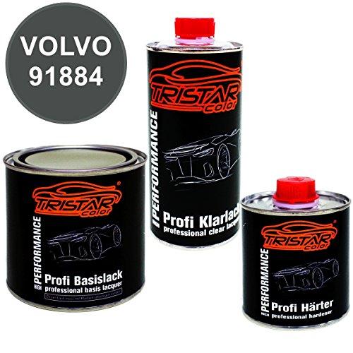 Preisvergleich Produktbild 1,25 Liter 2K Lack Set VOLVO 91884 DOLOMIT GREY M. - Profi Autolack spritzfertig & Klarlack & Härter
