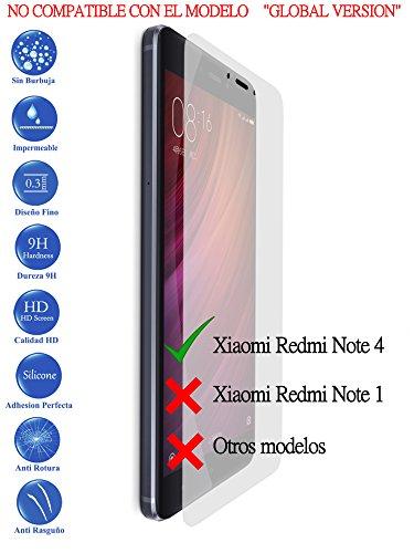 Protector de Pantalla Cristal Templado Vidrio para Xiaomi redmi note 4