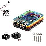 Raspberry Pi 3Model B Kit, 5strati scatola, Ventola, dissipatore di calore (Nero) Multi Color immagine