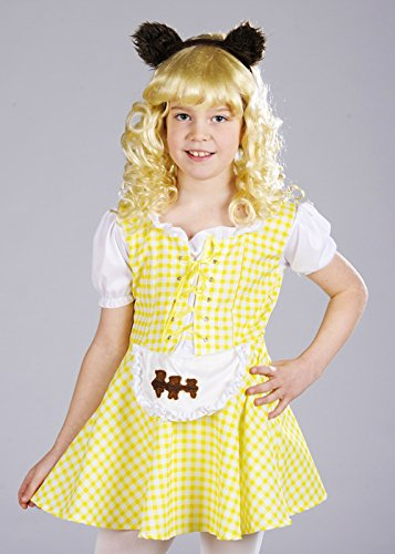 Mädchen Gelb Goldilocks Kostüm mit Bärenohren Small (4-6 (Kostüme Für Goldilocks Kinder)