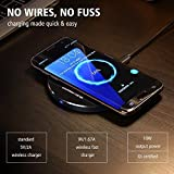 #6: Genuine High Quality Wireless Charging Pad Which Compatible With Samsung S6,S6 Edge,S7,S7 Edge,Note 5,Note 8,S8,S8 plus,IPhone 8,IPhone 8 Plus,IPhone X/ Wireless Charger Come With Feature Ultra Fast Charging,Portable Wireless Charging ,Lighting Fast Wireless Charging Stand Utilizes Qi Inductive Charging/Qi Charger For IPhone/ Fast Wireless Charger/Quick Wireless Charger(By ShopOn)