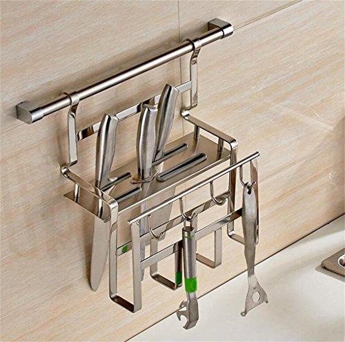Cucina cucina scaffalature in acciaio inox scaffalatura a muro Knife Block ( colore : 1# )