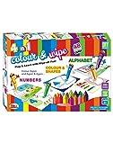 #9: Ekta 4 In 1 Color & Wipe Off Coloring Kit/PreSchool Learning Painting Kit For Kids 3+ Years