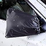 Surenhap Autospiegel Schneeabdeckung, 1 Paar Auto Seitenspiegel Abdeckung Premium Quality Classic Schwarz Schutzhülle gegen Frost, Schnee und Kratzer, 30 * 27cm, für Autos, SUV, Pickup