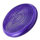 Vige Universal Home Balance Disc PVC Balance Yoga Bälle Tragbare Massagekissen Massagekissen Fitness-Trainingsball - Lila