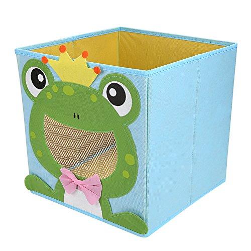 LEADSTAR Plegado Niños Juguetes Caja de almacenaje Animal Caja No Tejidos Organizador sin Tapa - Rana