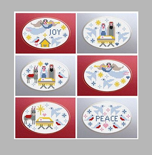 Biglietti Di Natale A Punto Croce.Riverdrift House 6 Kit Punto Croce Biglietti Di Natale Nativita