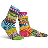 Solmate Socks Bunte Socken Damen, Freesie XL