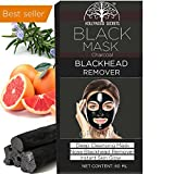 #5: Hollywood Secrets Black Mask Blackhead Remover Purifying Black Peel Off Mask - Activated Charcoal Deep Cleansing Facial Acne Pore Cleaner