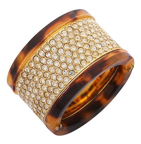 Michael Kors Damen Fingerring Edelstahl Gold/Tortoise MKJ2251710, Ringgroesse:51 (16.2)