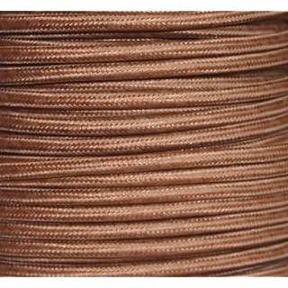 Textilkabel, Stoffkabel, Lampen-Kabel, braun, 2-adrig, 2x0,75