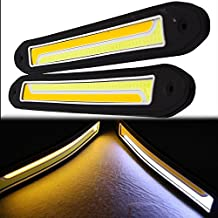 2pcs coche COB luces de conducción diurna luces antiniebla impermeable de silicona flexible DIY DRL LED con intermitente CB