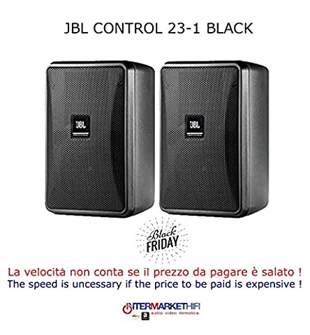 JBL Control 23 – 1-bK | Ultra Compact 3 inch Two Way vented Haut-parleur Black Pair