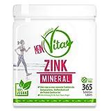 MeinVita Zink Mineral - 25 mg (Tagesportion) - hochdosiert - 100 % vegane...