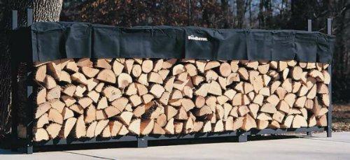 Woodhaven scaffalatura per legname da ardere completa di telo di copertura, 3,6 metri